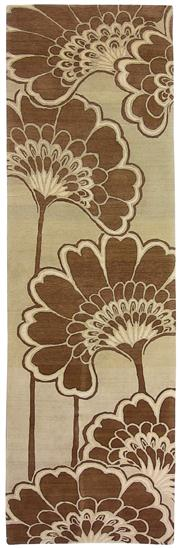 Sale 8536A - Lot 17 - A Japanese Floral Florence Broadhurst Tibetan Wool & Chinese Silk Carpet Nepal 305cm x 90cm	 $2,750.00