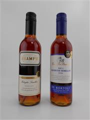Sale 8519W - Lot 60 - 2x Dessert Wines - 1x 2006 Gramps Botrystis Semillon, 1x 2006 De Botoli Vat 5 Botrystis Semillon, both 375ml half-bottles