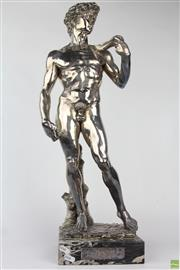 Sale 8572 - Lot 87 - Large Silver Clad David Statue