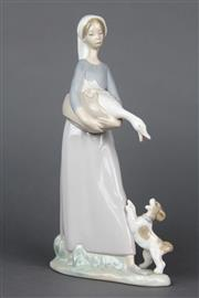 Sale 8654 - Lot 13 - Lladro Figure of a Lady with Goose