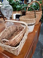 Sale 8769 - Lot 1099 - Four Varied Wicker Baskets
