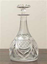 Sale 8871H - Lot 187 - A vintage fancy hand cut lead crystal decanter, C: 1920s, Height  24cm