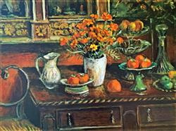 Sale 9091A - Lot 5006 - Margaret Olley (1923 - 2011) - Marigolds and Fruits, 2009 79 x 108 cm (sheet)