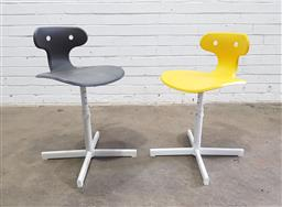 Sale 9121 - Lot 1059 - Pair of plastic lift top chairs (h:70cm)