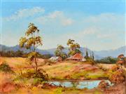 Sale 8323A - Lot 36 - John Hingerty (1930 - ) - The Farm on the Knoll 38 x 50.5cm