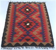 Sale 8438K - Lot 2 - Maimana Afghan Kilim Rug | 100x72cm, Pure Wool, Handwoven in Northern Afghanistan using durable local wool. Traditional slit weave k...