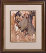 Sale 8486A - Lot 8 - Judy Cassab - Portrait of a Woman 32 x 26cm