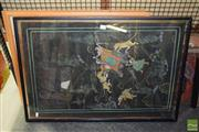Sale 8509 - Lot 2098 - Group of (8) Assorted Artworks incl. Indo-Persian Paintings, Van Gough Decorative Prints & Ceramic Sculpture Reliefs (framed, variou...