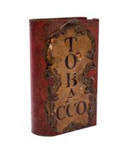 Sale 8575J - Lot 67 - A folk art toleware match box, height 13cm