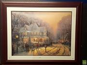 Sale 8604 - Lot 2070 - Thomas Kinkado - Holiday Gathering decorative print edition 2348 of 2400 92 x 114cm signed lower left