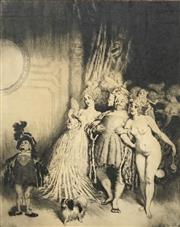 Sale 8730 - Lot 2031 - Norman Lindsay (1879 - 1969) - Enter the Duke 32.5 x 26cm