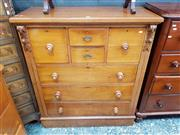 Sale 8814 - Lot 1025 - Late 19th Century Cedar Chest of Seven Drawers, with plinth base
