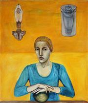 Sale 8958A - Lot 5042 - Deborah Walker (1954 - ) - Portrait Of A Young Woman 101.5 x 86 cm (total: 101.5 x 86 x 3 cm)