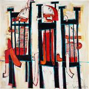 Sale 8959A - Lot 5014 - Jannine Daddo (1959 - ) - Tired of Waiting 120 x 120 cm (total: 120 x 120 x 7 cm)