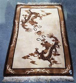 Sale 9108 - Lot 1070 - Embossed chinese woolen rug (180 x 120cm)
