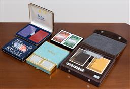 Sale 9140H - Lot 58 - A Pierre Cardin cased set of playing cards together with a Tiffany & Co example and others.