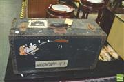 Sale 8371 - Lot 1021 - Vintage Metal Bound Case