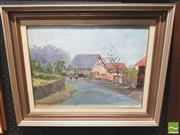 Sale 8413T - Lot 2036 - J Collin Angus, The Barn, oil on canvas on board, 29.5 x 39.5cm, signed lower left
