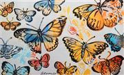 Sale 8443 - Lot 527 - David Bromley (1960 - ) - Butterflies 77 x 126cm (99 x 147.5cm)