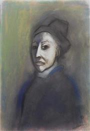 Sale 8657E - Lot 5030 - Robert Dickerson (1924 - 2015) - Pensive Lady 54 x 37cm (frame: 86 x 65cm)