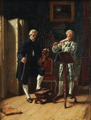Sale 8821 - Lot 556 - Victor Chavet (1822 - 1906) - The Rehearsal 31 x 23.5cm