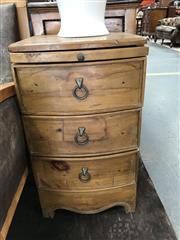 Sale 8868 - Lot 1519 - Pair Of Pine Curved Front Bedside Cabinets H: 71cm