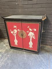Sale 8962 - Lot 1095 - Oriental Drinks Cabinet (Some Losses) (H:100 W:101 D:50cm)