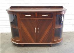 Sale 9108 - Lot 1084 - Art Deco sideboard with two drawers & four doors below (h95 x w145 x d45cm)
