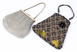 Sale 9092F - Lot 80 - A PAIR OF VINTAGE BAGS; Including a glomesh & a fabric embroided clutch.