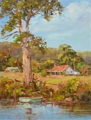 Sale 8323A - Lot 63 - John Hingerty (1930 - ) - Tranquil River 34 x 26cm