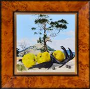 Sale 8389 - Lot 587 - Janet Green (1942 - ) - Still Life with Quinces, near Lanyon, 2005 30 x 30cm