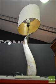 Sale 8515 - Lot 1010 - A Horn Table Lamp