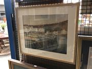 Sale 8789 - Lot 2061 - J Wilkinson - Town Port Scene, watercolour, 46 x 55cm, signed lower right