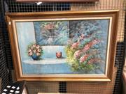 Sale 8853 - Lot 2097 - Artist Unknown - Still Life with Flowers, oil on canvas, SLR