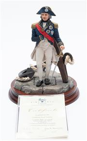 Sale 8887 - Lot 72 - A resin figure of Admiral Nelson
