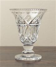 Sale 8871H - Lot 189 - Excellent quality Art Deco hand cut lead crystal trumpet vase C: 1940s. Height  20cm