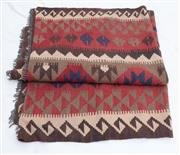 Sale 8891H - Lot 34 - A large hand knotted kilim in brown and russet tones, 302cm x 300cm