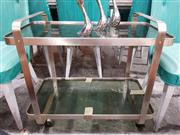 Sale 8930 - Lot 1023 - Metal and Glass Drinks Trolley