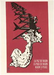 Sale 9072 - Lot 2038 - A pair of Reproduction Vietnam War Propaganda on rice paper -