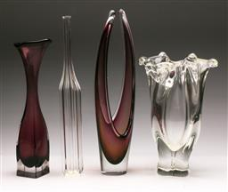 Sale 9131 - Lot 37 - Collection of art glass vases inc signed example (H:38cm)