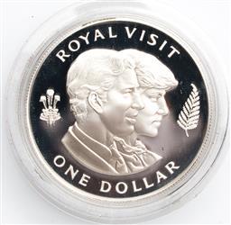Sale 9246 - Lot 53 - 1983 Charles & Diana Royal Visit to New Zealand $1