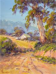 Sale 8323A - Lot 64 - John Hingerty (1930 - ) - The Leaning Gum 34 x 26cm