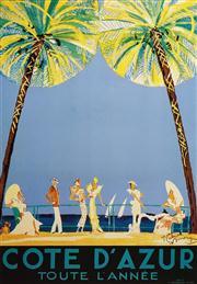 Sale 8592A - Lot 5063 - Jean-Gabriel Domergue (1889 - 1962) - Cote dAzur 96 x 67cm (frame size: 123 x 98cm)