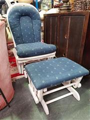 Sale 8672 - Lot 1064 - Timber Dexter Rocker & Matching Foot Stool (2)