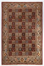 Sale 8770C - Lot 66 - An Iranian Rug, Garden Design, Khorasan Region, Very Fine Wool And Silk Pile., 300 x 200cm
