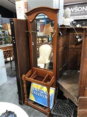 Sale 8851 - Lot 1074 - Mirrored back Hall Stand