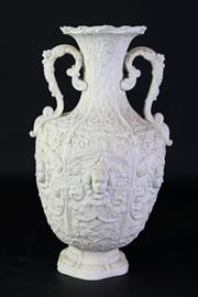 Sale 8897 - Lot 61 - A Victorian Copeland Parian Vase in the Renaissance Manner (H 34cm)