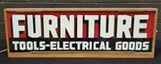 Sale 8984 - Lot 1026 - Vintage Furniture Shop Light Box Sign (H:31 x W:95cm)
