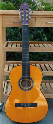 Sale 9066H - Lot 78 - A Valencia classical guitar, model TC4K, with soft case.