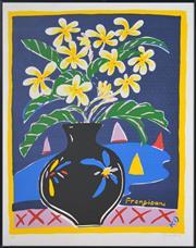 Sale 8349A - Lot 88 - Ken Done (1940 - ) - Frangipani 70 x 55cm, sheet size